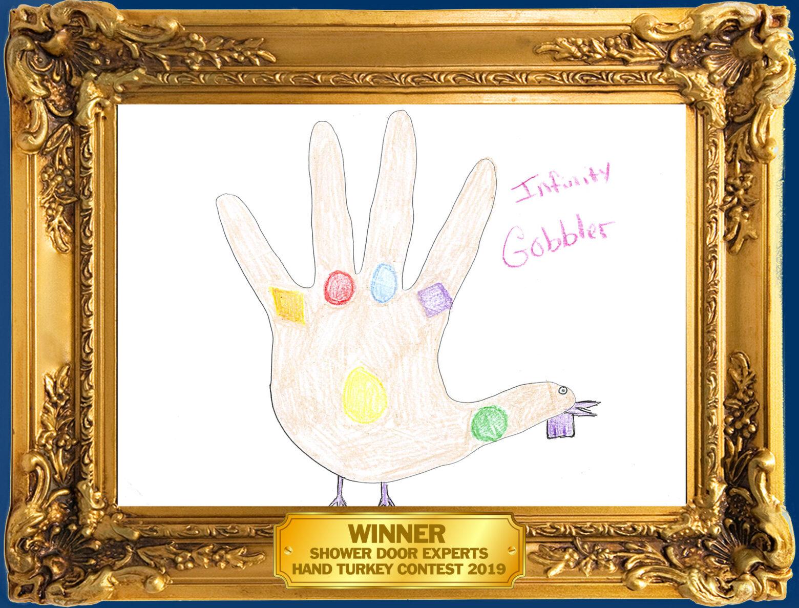 thanksgiving hand turkey as thanos
