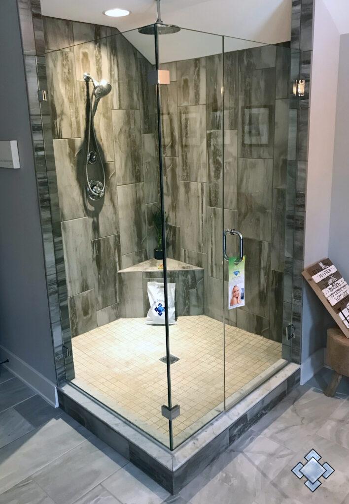 frameless shower door in new market maryland