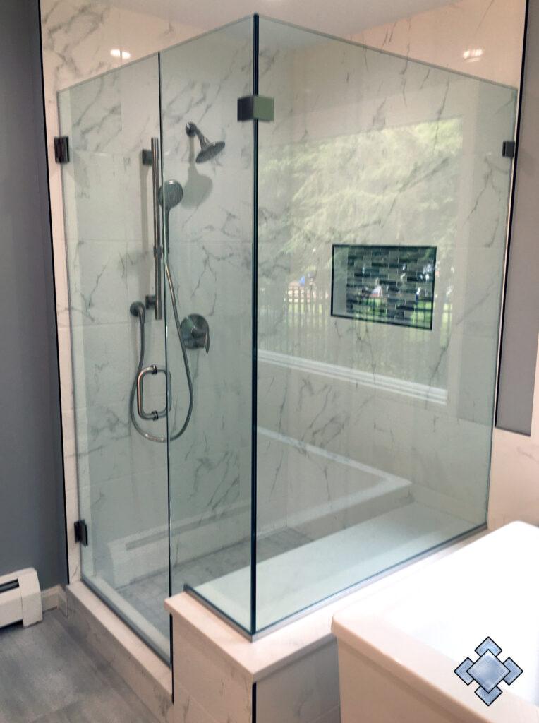 corner unit shower door in fairfax virginia